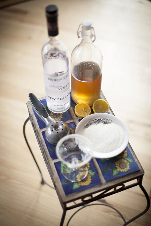 Preperations for a lavendar  concoction© Gabriella Marks